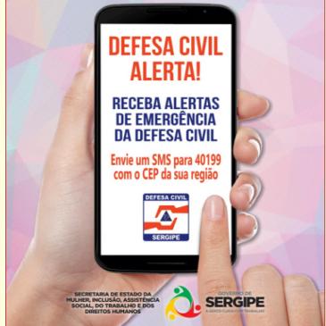 Serviço de alerta de desastres por SMS começa a funcionar na segunda, 05.